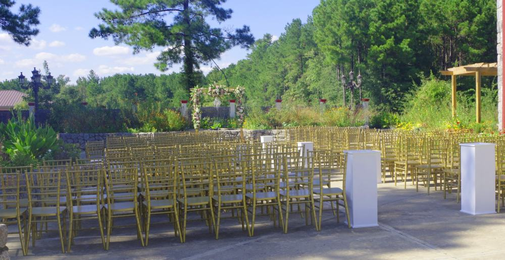 Garden Wedding Ceremony set up September 13, 2017