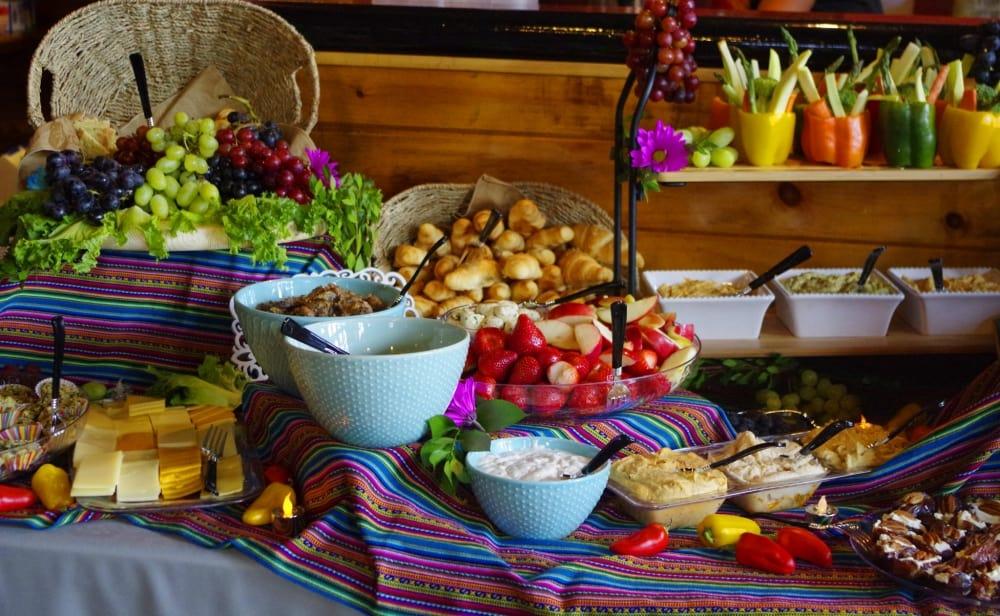 Wedding Dessert Buffet set up August 30, 2016