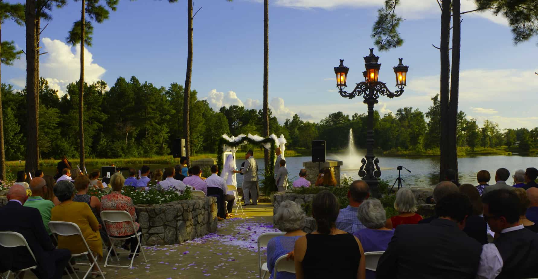 lake side wedding ceremony