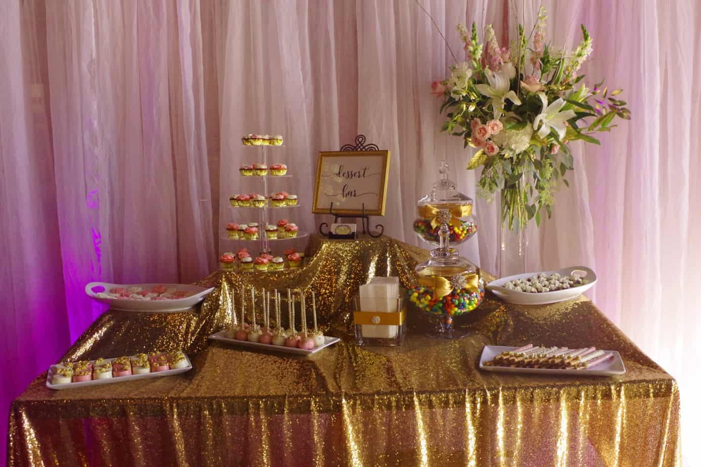the reception candy bar image