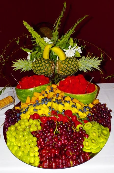 Wedding-Reception-Fruit-Table 2015 at Mariani's venue